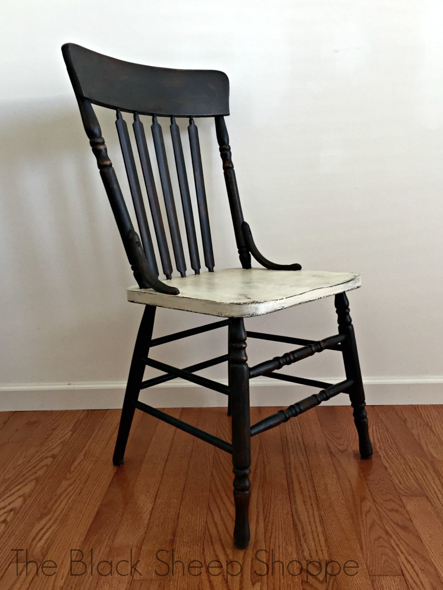 Side view rustic chair