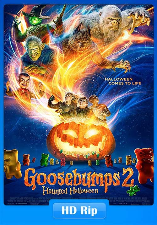 Goosebumps 2 Haunted Halloween 2018 720p HDRip Hindi Tamil Telugu Eng x264 | 480p 300MB | 100MB HEVC
