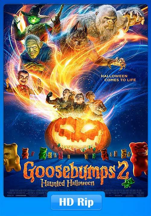 Goosebumps 2 Haunted Halloween 2018 720p HDRip Hindi Tamil Telugu Eng x264 | 480p 300MB | 100MB HEVC Poster