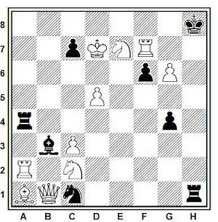 Problema de mate en 2 compuesto por Francisco Salazar (Die Schwalbe, 1982)