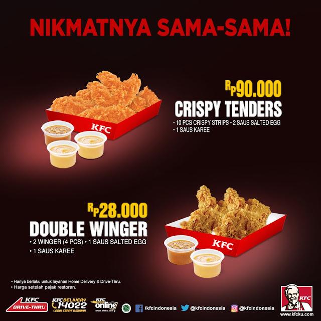 KFC - Promo Produk Baru Crispy Tenders (90 Ribu) & Double Dinger (28 Ribu)