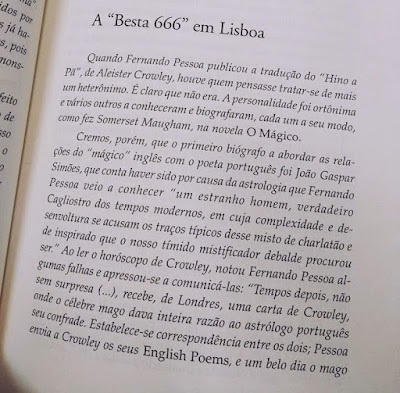 Alesteir Crowley, Fernando Pessoa, Besta 666, Thelema, Ocultismo