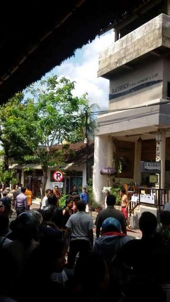 The fire occurred at a cafe in Ubud, close to Ubud market
