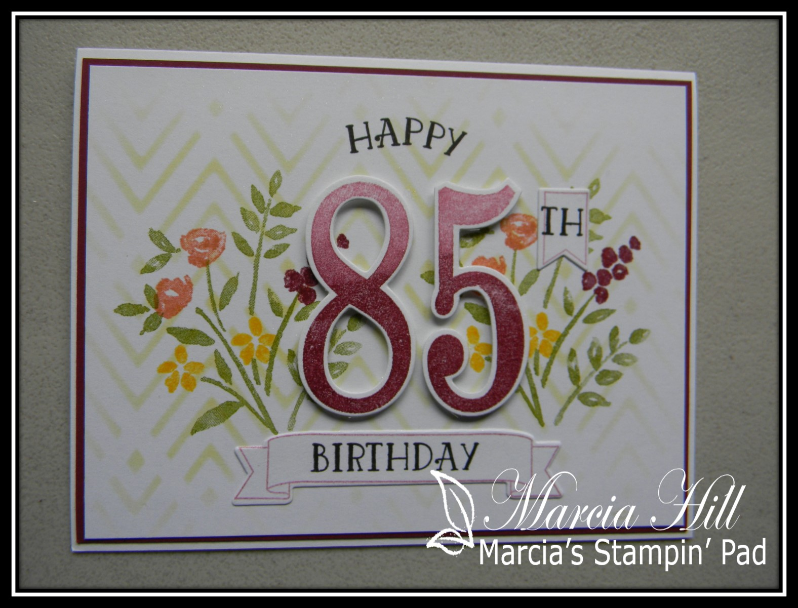 Marcias Stampin Pad Cupcake Inspirations 401 Happy 85th Mom