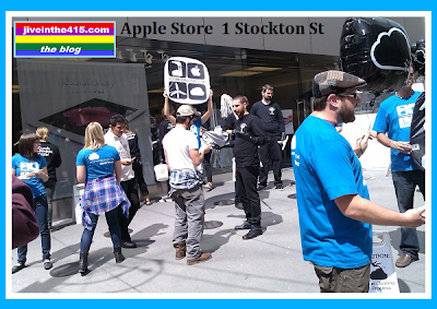 San Francisco Apple Store Greenpeace Protest