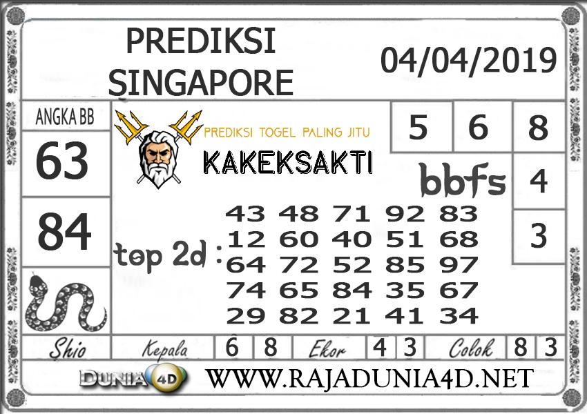 Prediksi Togel SINGAPORE DUNIA4D 04 APRIL2019