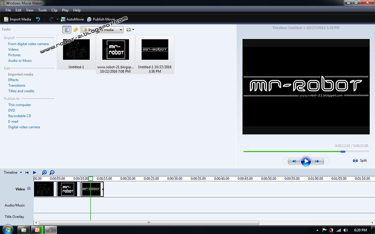 Movie Maker Win 7 Ultimate