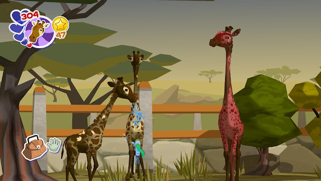 Screenshot of giraffes in World of Zoo