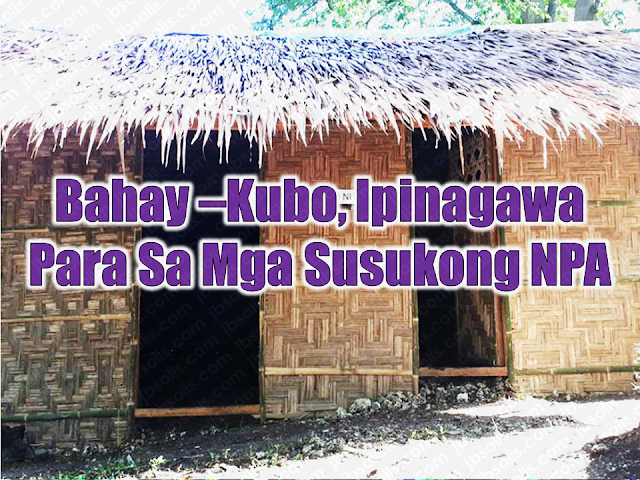 "The Alpha Company of the 73rd Infantry Battalion (IB) of the Philippine Army has built huts for New Peoples Army (NPA) surrenderees where they can stay while their requirements to claim their benefits under Comprehensive Local Integration Program (CLIP) is being processed.  Advertisement       Sponsored Links        Dubbed as ""Pahulayan ni kauban"" the hut is divided into two to separate women from men. They allocated P25,000 funds for the building    Alpha Company commanding officer 1Lt. Daryll Cansancio it was already used rebel returnees who are currently training to be members of Citizen Armed Force Geographical Unit (CAFGU).  The government forces continue in their offensive in chasing NPA rebels and other government offenders since President Rodrigo duterte declared all out war against the terrorist rebel group.  The government has cancelled peace talks following reports of the NPA attacking police and the army in spite of existing peace talks   There are thirteen NPA rebels who already surrendered to the government through the said program.    Read More:  Skilled Workers In The UAE Can Now Have Maximum Of Two Part-time Jobs    Former OFW In Dubai Now Earning P25K A Week From Her Business    Top Search Engines In The Philippines For Finding Jobs Abroad    5 Signs A Person Is Going To Be Poor And 5 Signs You Are Going To Be Rich    Tips On How To Handle Money For OFWs And Their Families    How Much Can Filipinos Earn 1-10 Years After Finishing College?   Former Executive Secretary Worked As a Domestic Worker In Hong Kong Due To Inadequate Salary In PH    Beware Of  Fake Online Registration System Which Collects $10 From OFWs— POEA    Is It True, Duterte Might Expand Overseas Workers Deployment Ban To Countries With Many Cases of Abuse?  Do You Agree With The Proposed Filipino Deployment Ban To Abusive Host Countries?"