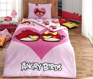 Angry Birds AB-02 Ranforce Tek Kişilik Nevresim Takım