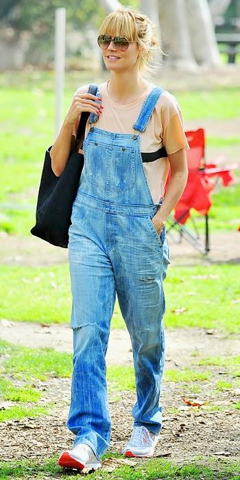 Heidi Klum overalls