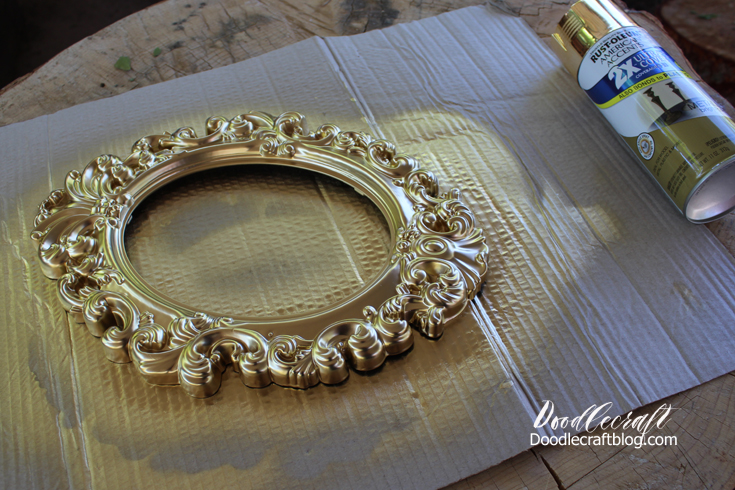 Gold Bed Frame Created With Spray Paint: Doodlecraft: Antique Ornate Picture Frame