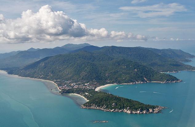 Остров Панган с самолета