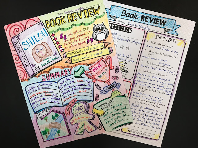 Looking for a creative way for students to review a book that they have read? They'll love this doodle book report! So fun and engaging!