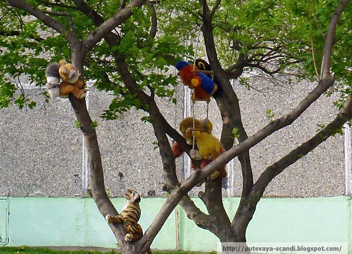 игрушки на дереве