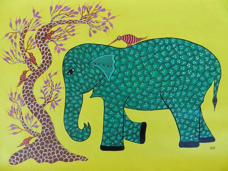 Gond Art by Ahambhumika, Image courtesy Ahambhumika