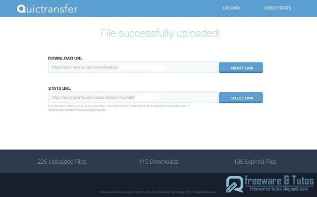 Quictransfer : un nouveau service pour envoyer des fichiers sans limite de taille