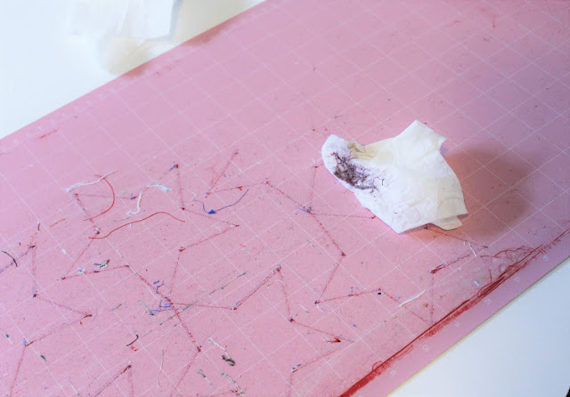 Tips on how to clean your pink Cricut FabricGrip mat for your Cricut Maker or Explore machines