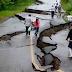 Afectcación por sismo el tramo carretero raudales Malpaso el  Bellote