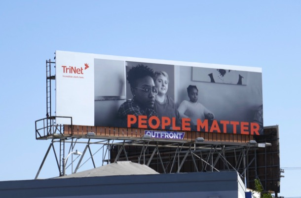 TriNet People Matter billboard