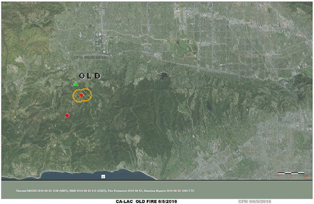 Map of Old fire in Los Angeles County