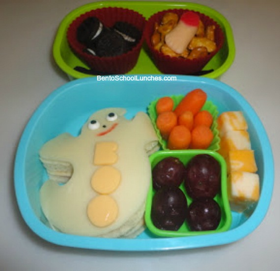 Ghost Halloween school lunch