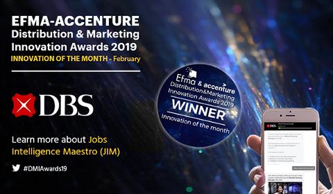 Prix de l'innovation EFMA pour DBS