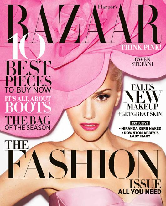 Gwen Stefani covers US Harper's Bazaar September issue ...