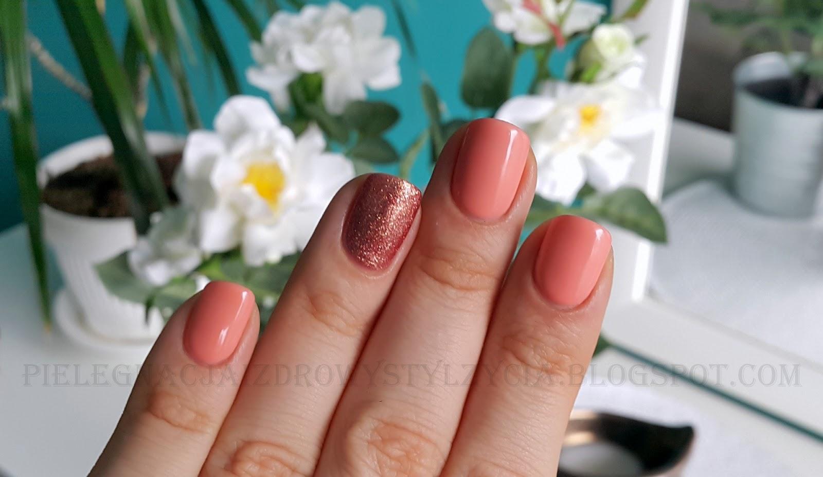 Połączenie idealne - Semilac Pink Gold 094 i Peach Milk 055
