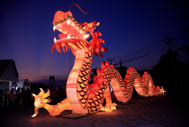 Lampion Naga di Nusa Dua lantern festival