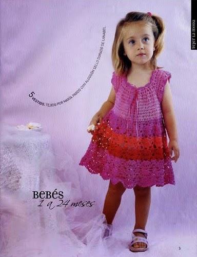 1788762a5d73 Receita de Crochê Infantil: Vestido de crochê tamanho 2-3 anos