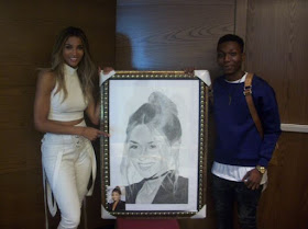 Photos: Ciara Meets Nigerian Student Who Did An Artwork Of Her