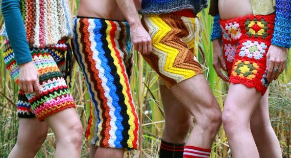 crocheted shorts for men