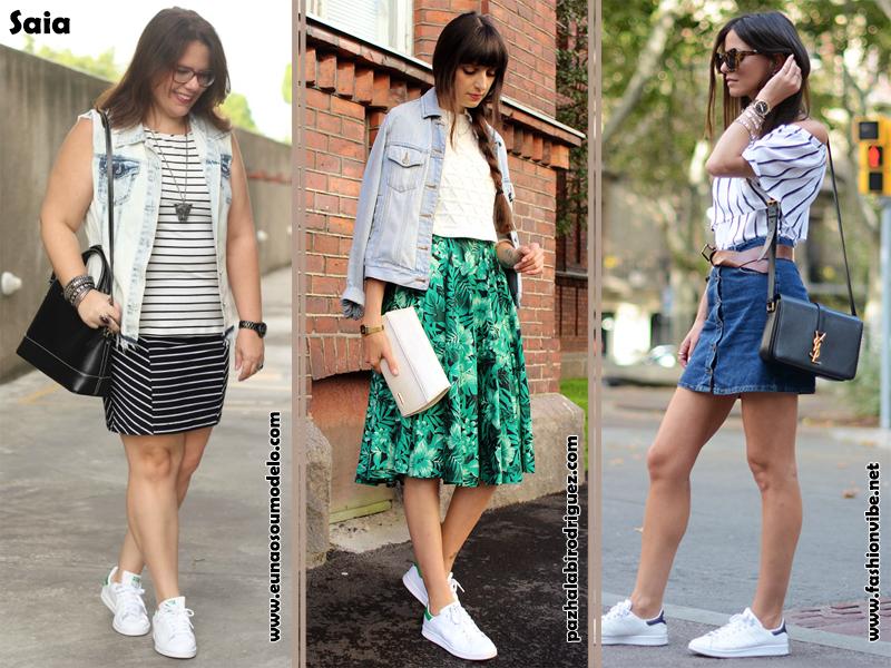 Adidas Superstar, como usar, looks com saia e tenis, moda, fashion, estilo, inspiração