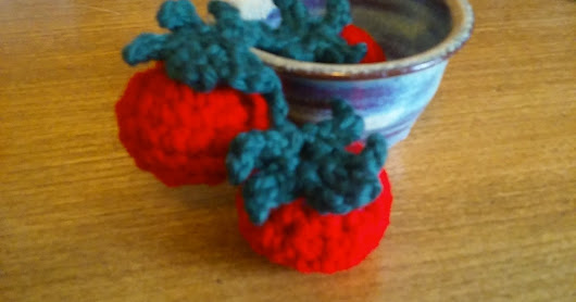Crocheted Vine of Tomatoes