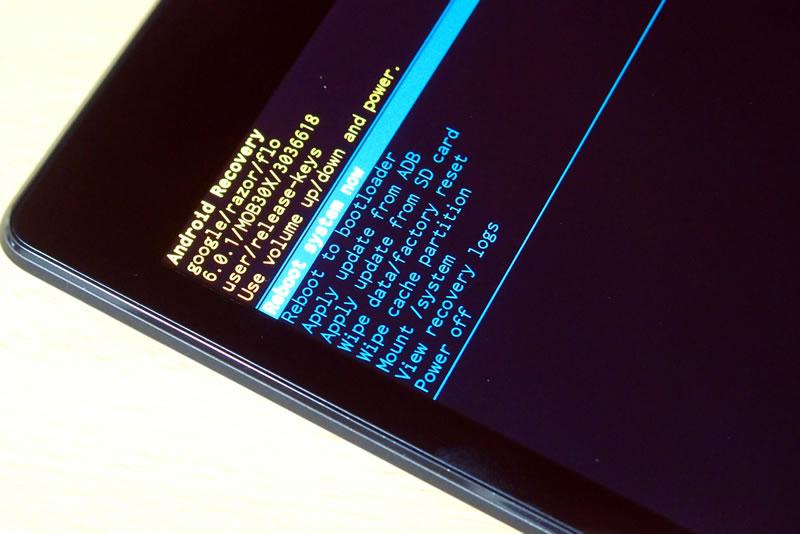 【Nexus7(2013) 】ファクトリーリセットで初期化する_6