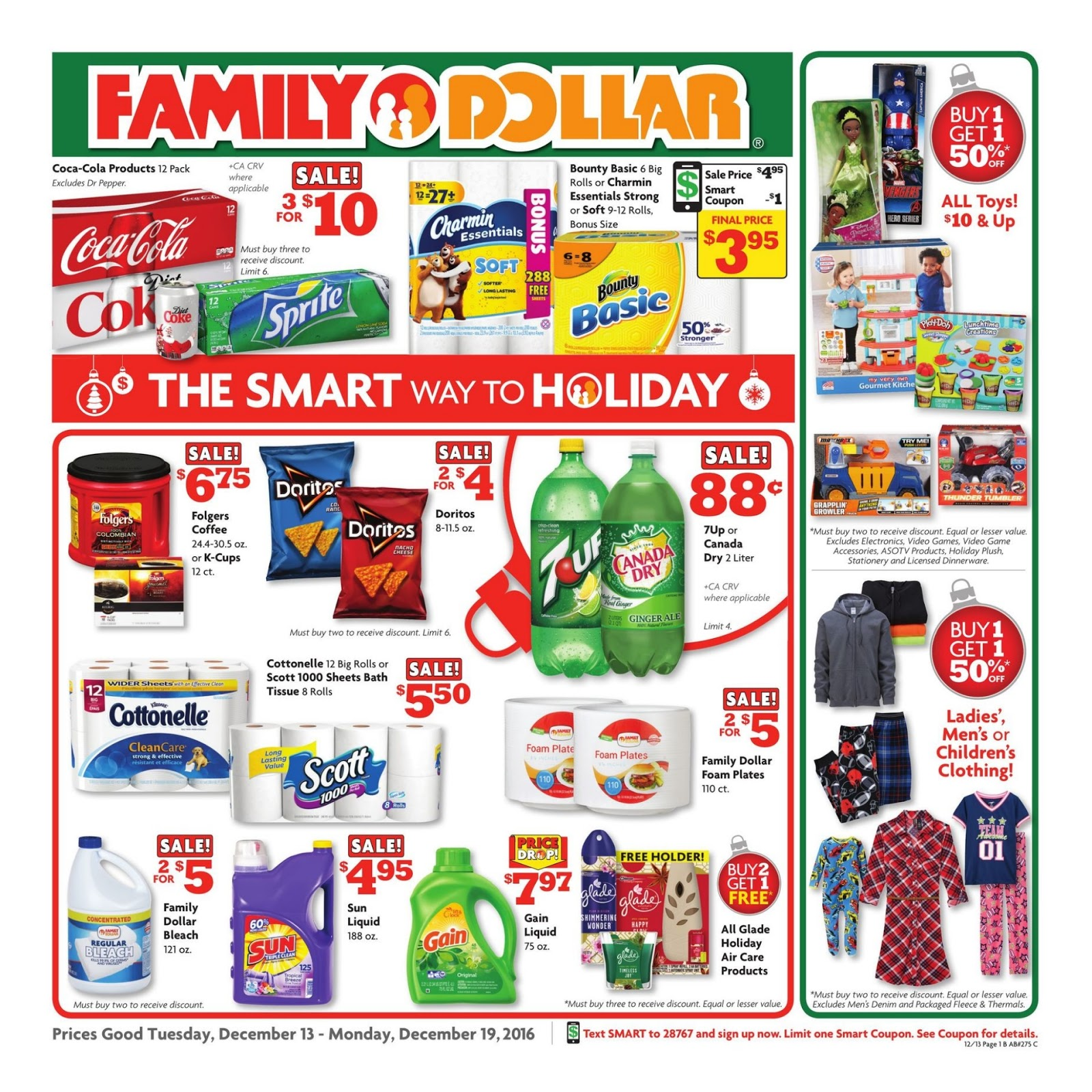 Find the latest weekly circular ad & Sunday flyer for Family Dollar here. Also, save with coupons and the latest deals from Family Dollar.