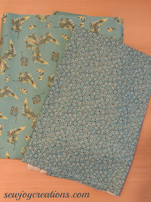 fabric for secret garden border and binding