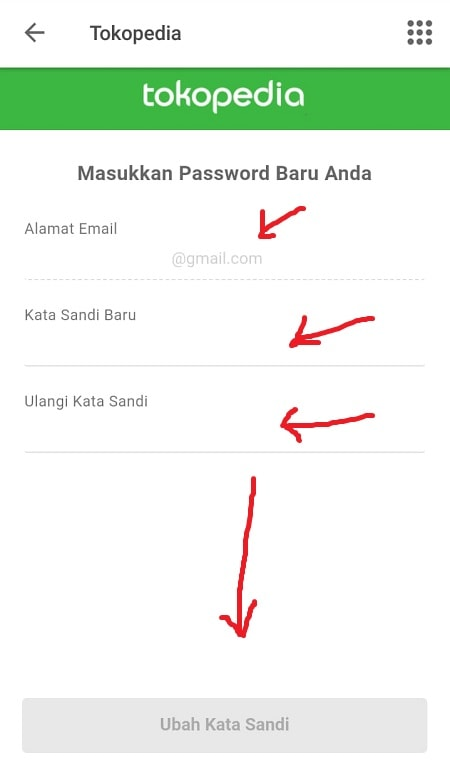 Buat Password Tokopedia Baru