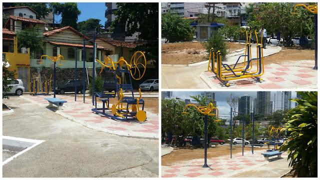 Mais uma praça do bairro recebe melhorias e equipamentos de ginástica