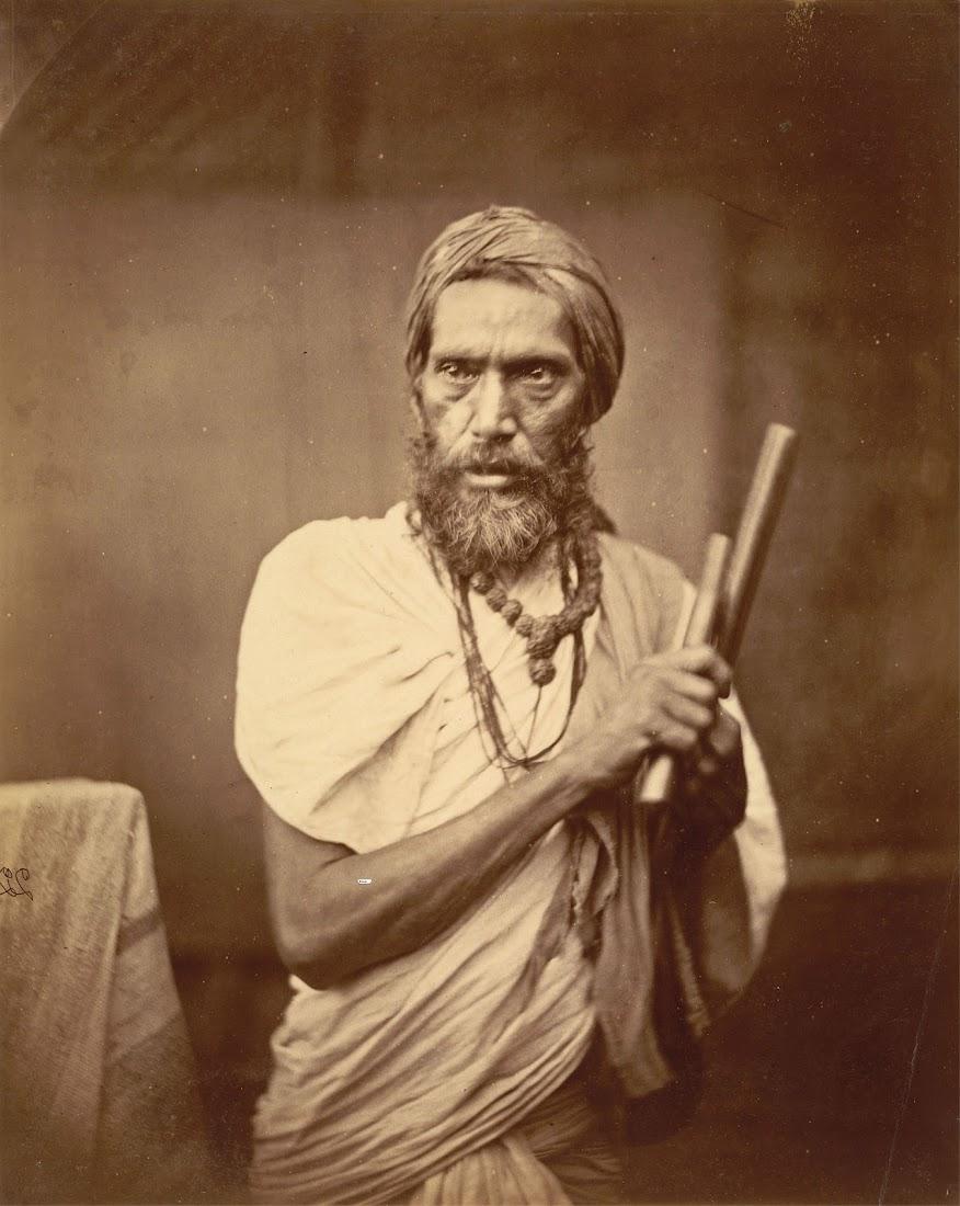 Dandi Sanyasi, a Hindu Ascetic - Eastern Bengal 1860's