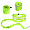 Homdox Pets Dog Leash Coupler Double Dog Walker Lead Elastic Two Dogs Leash Splitter (Hands Free Dog Leash Green)