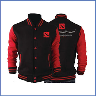 Jaket Gaming Varsity Dota 2 Black Red