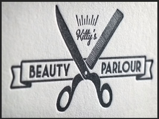 Designs of Letterpress Printing Business Cards beauty parlor