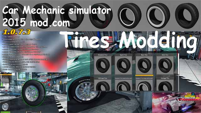 Tires Modding – Car Mechanic Simulator 2018 mods
