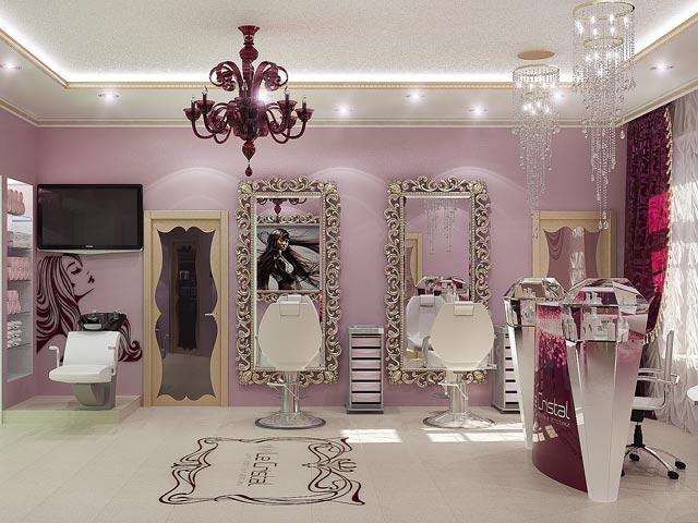 Beauty salon - Stock Image - Contemporary Beauty Salon