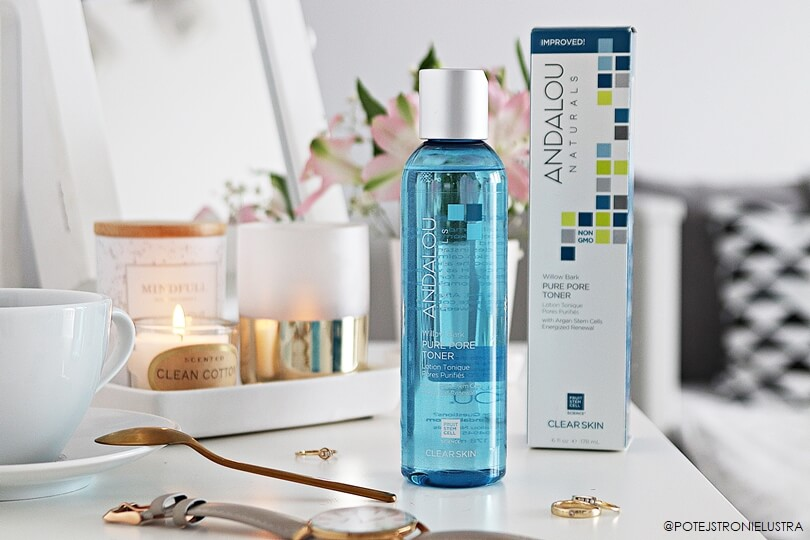 andalou naturals willow bark pure pore toner recenzja blog