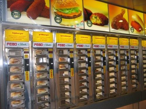 Maquina expendedora de comida Febo en Ámsterdam