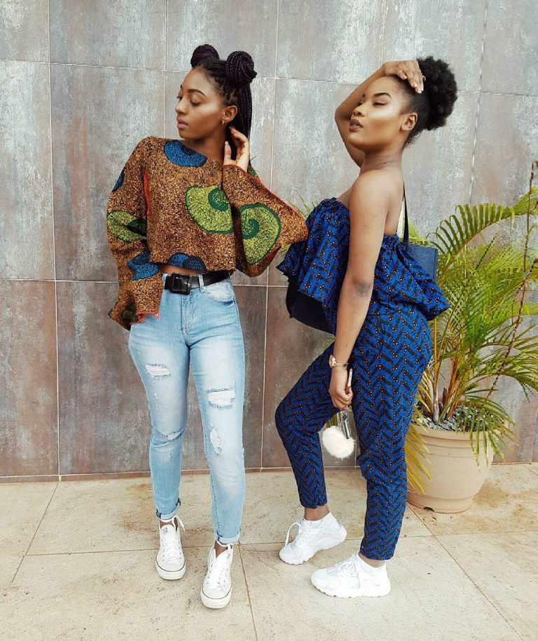 Stylish Ankara Styles With Sneakers