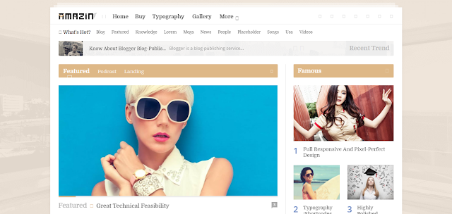 Amazin Multipurpose Blogger Template